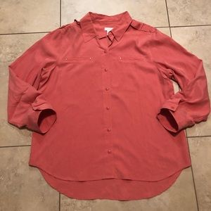 Chico's size 3 woman's button up top very soft